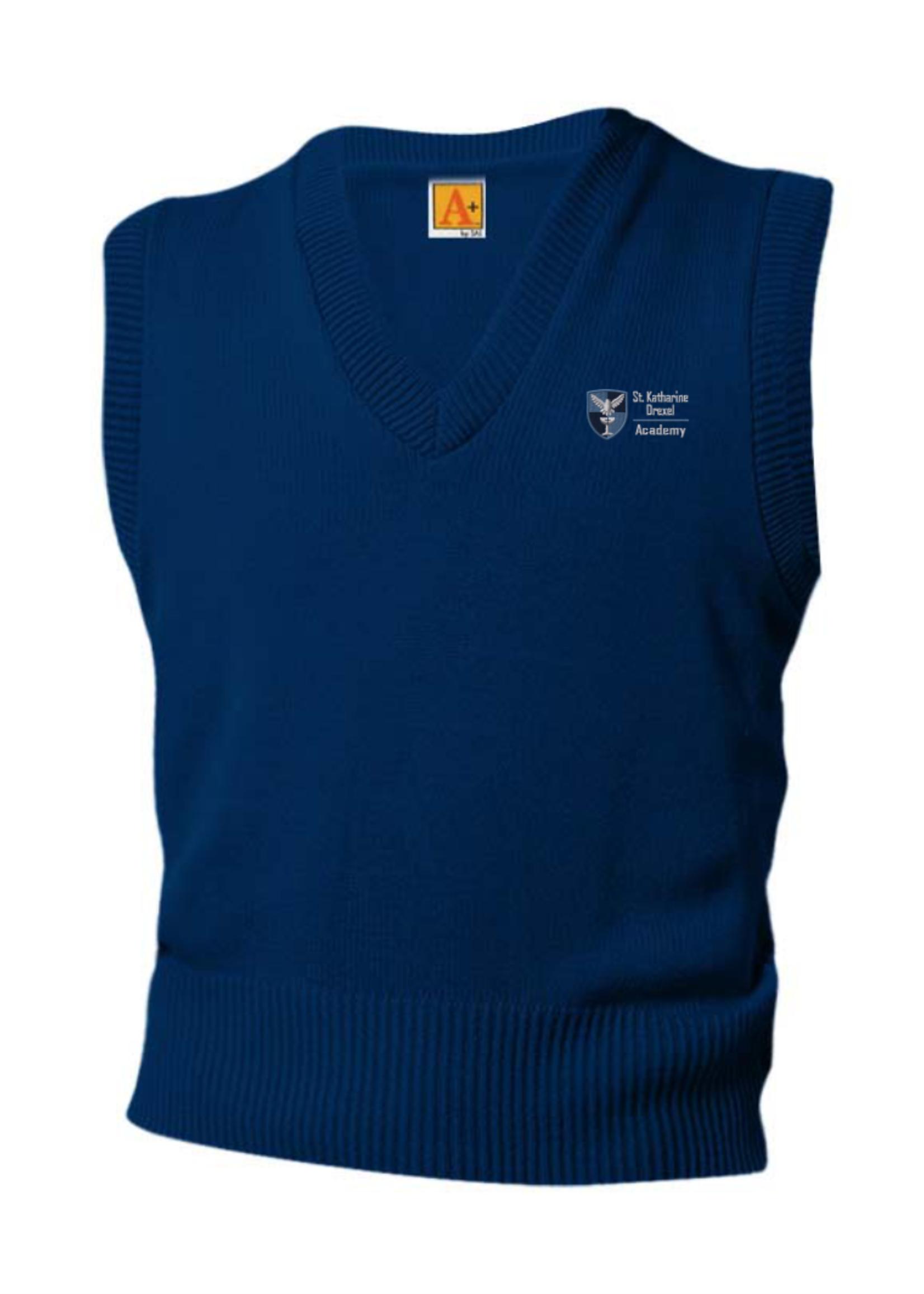 SKDA Navy V-neck sweater vest