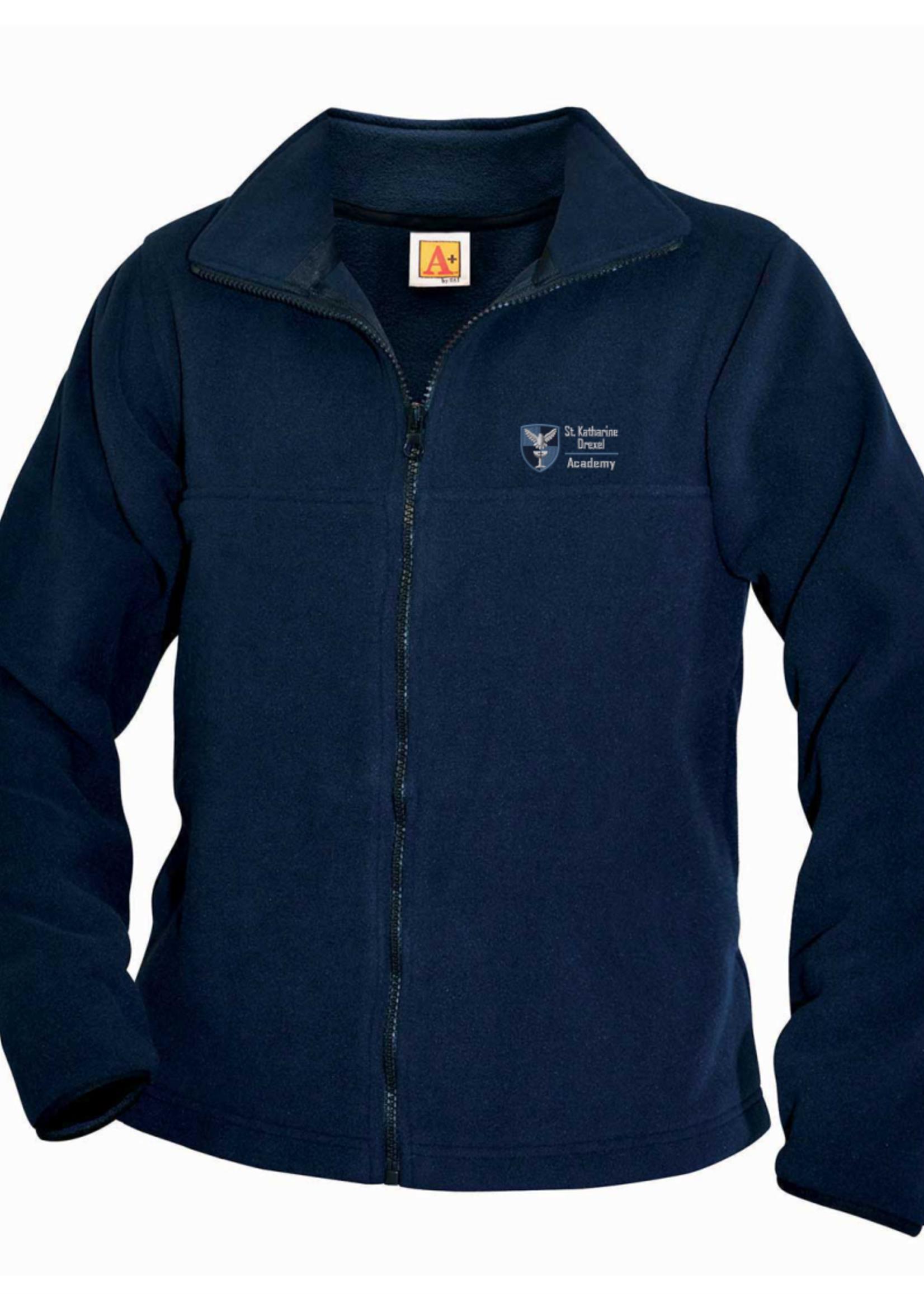 SKDA Navy Fleece Full Zip Jacket