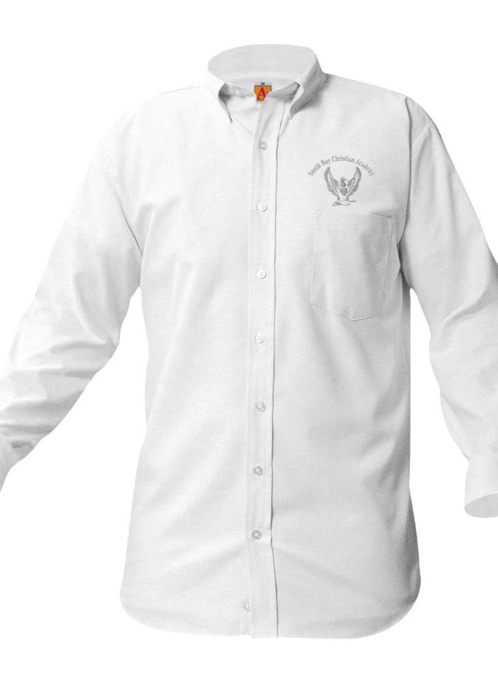 Null SBCA White Long Sleeve Oxford Shirt (G712)