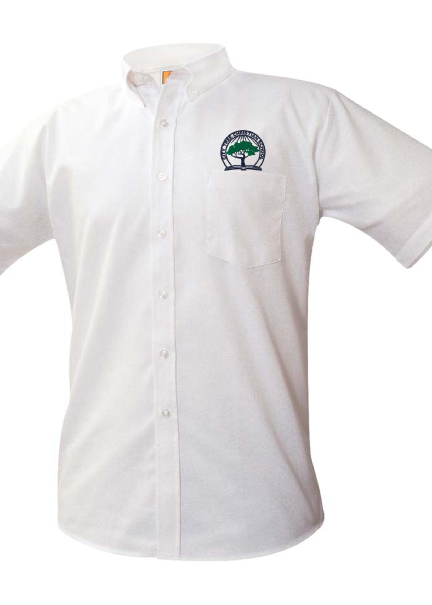 TUS CTCS White Short Sleeve Oxford Shirt