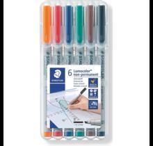 6 Pack Wet Erase Mat Marker Set