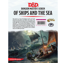 Dungeons and Dragons Dungeon Master DM Screen Of Ships and Sea