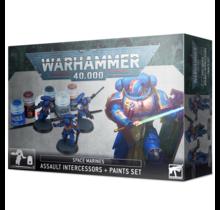 Warhammer 40k Space Marines Assault Intercessors + Paint Set