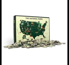 1000 pc Puzzle U.S. National Parks Map
