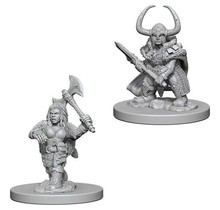 Dungeons and Dragons Nolzur's Marvelous Minis Dwarf Female Barbarian