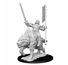 Pathfinder Deep Cuts Orc on Dire Wolf