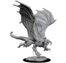 Dungeons and Dragons Nolzur's Marvelous Minis Young Black Dragon