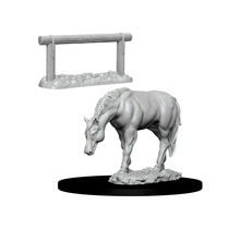 Dungeons and Dragons Nolzur's Marvelous Minis Horse and Hitch
