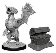 Dungeons and Dragons Nolzur's Marvelous Minis Bronze Dragon Wyrmling and Pile of Sea Treasure
