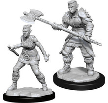 Dungeons and Dragons Nolzur's Marvelous Minis Orc Barbarian Female