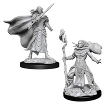 Magic the Gathering Unpainted Minis Elf Fighter & Elf Cleric