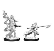 Magic the Gathering Unpainted Minis Joraga Warcaller and Joraga Treespeaker Elves