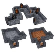 Warlock Tiles Accessory - Dungeon Straight Walls