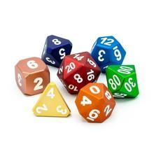 Die Hard RPG Set Forge Frosted Rainbow with White Metal Polyhedral 7 die set