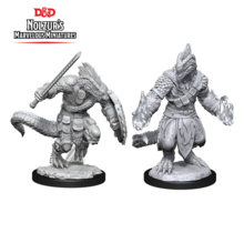 Dungeons and Dragons Nolzur's Marvelous Minis Lizardfolk Barbarian and Lizardfolk Cleric