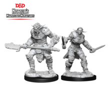 Dungeons and Dragons Nolzur's Marvelous Minis Bugbear Barbarian Male and Bugbear Rogue Female