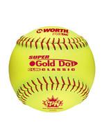 "Rawlings WORTH GOLD DOT 12"" BOX OF 12 SOTFBALL"