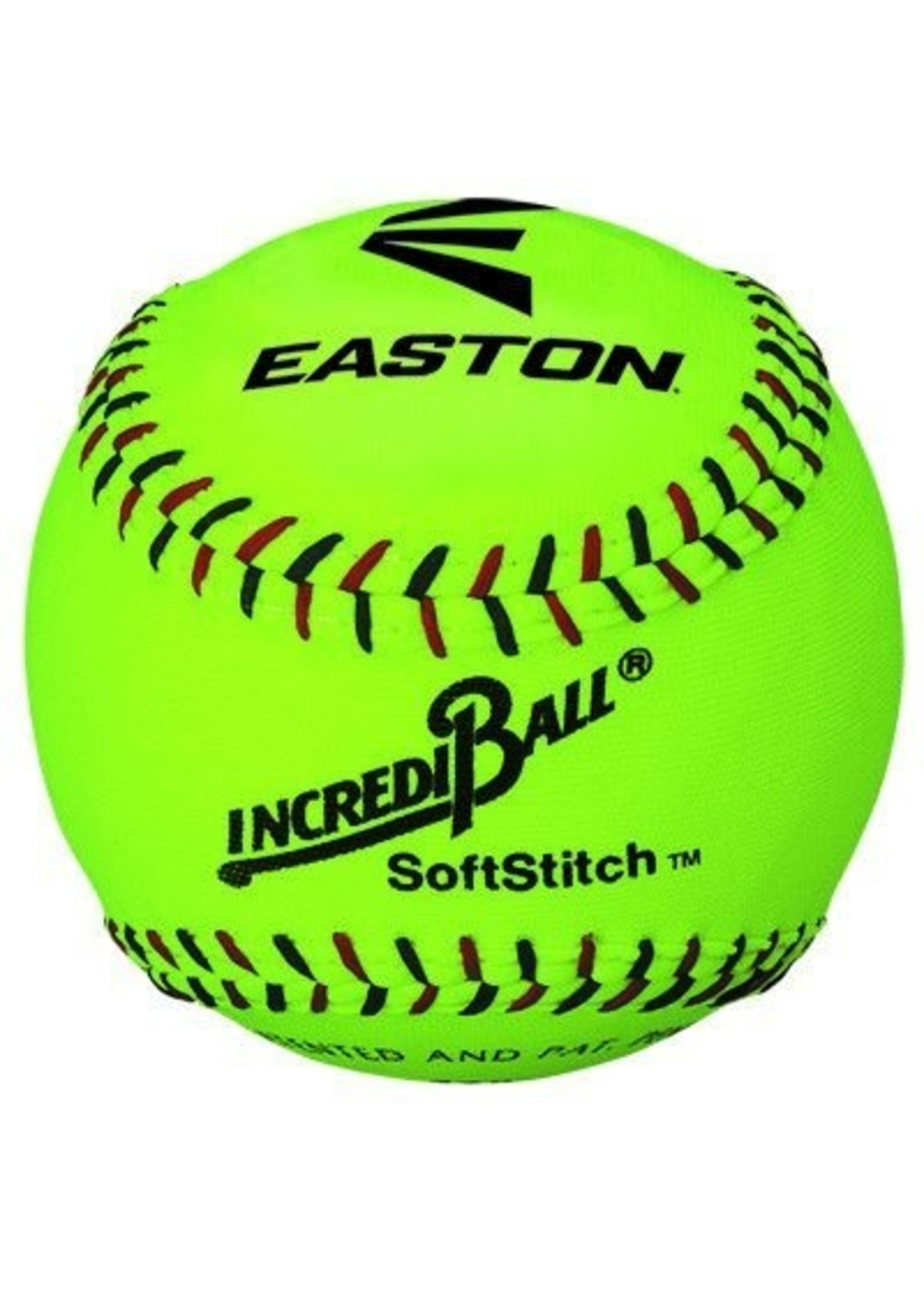 "Easton Baseball (Canada) EASTON INCREDI-BALL 12"" NEON SOFTSTITCH BOX OF 12 SOFTBALL"