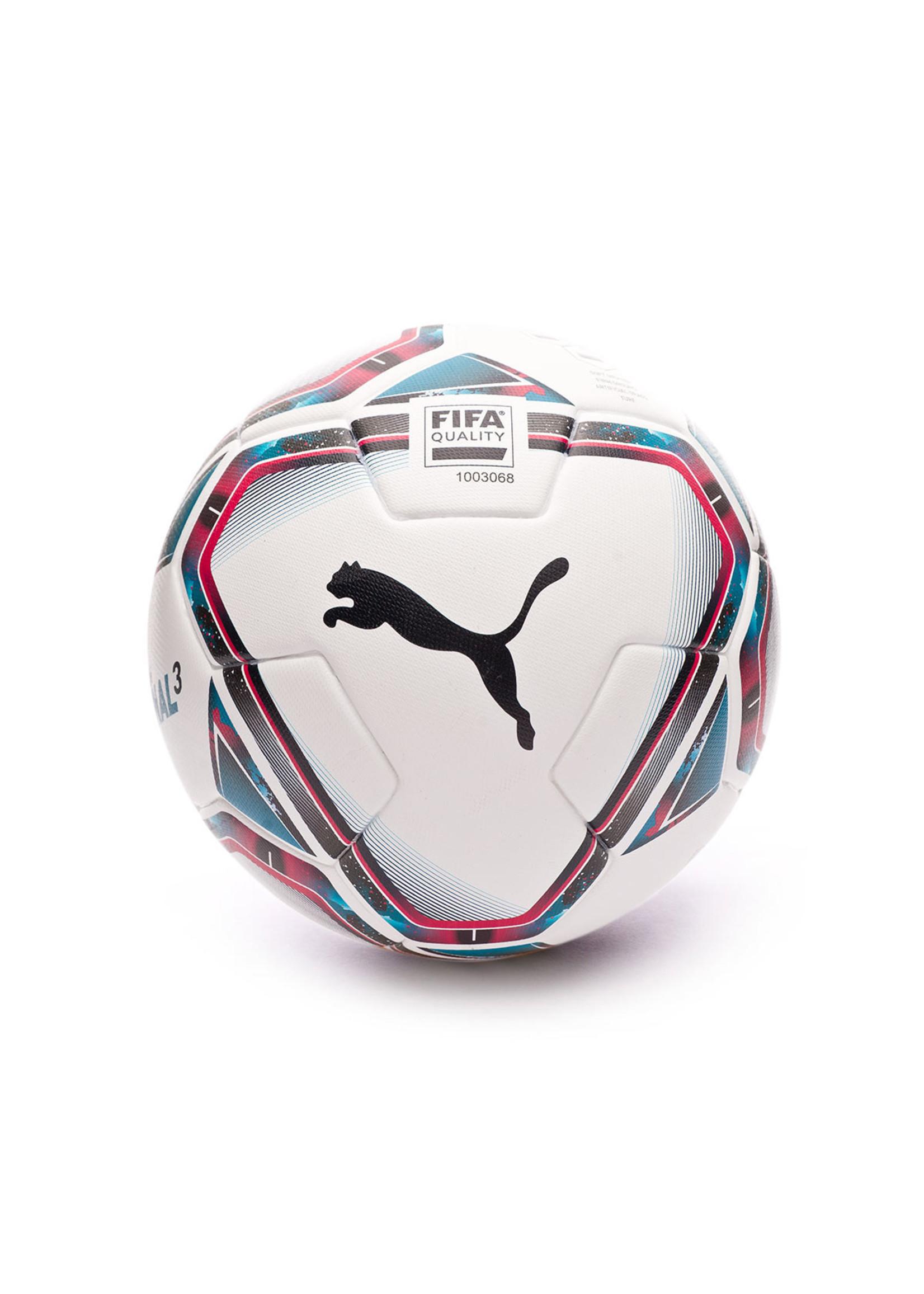 Puma SOCCER BALL PUMA TEAM FINAL 21.6 BLANC-ROSE-BLEU