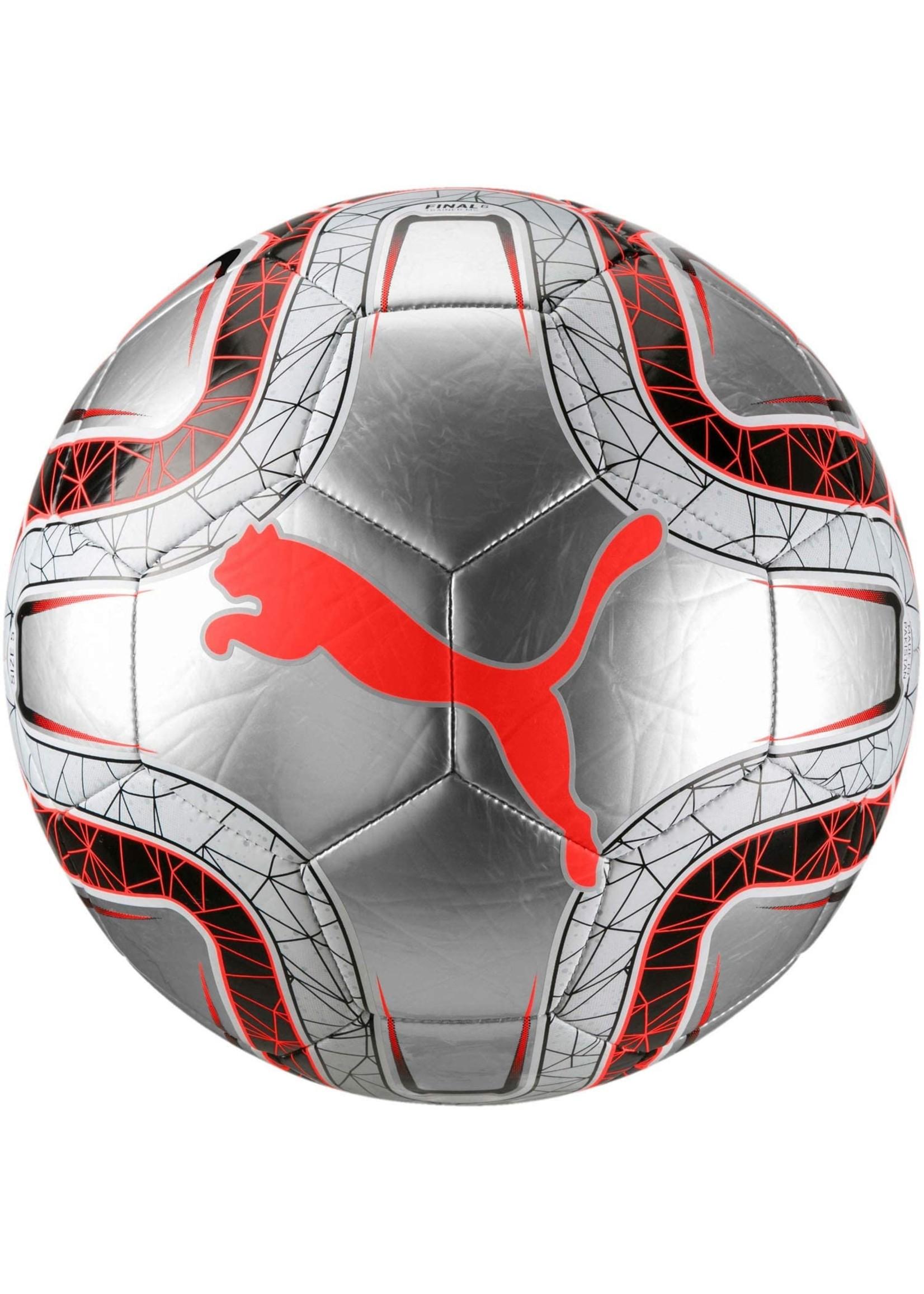 Puma SOCCER BALL PUMA FINAL 6 MS TRAINER ARGENT-GRIS-ROUGE