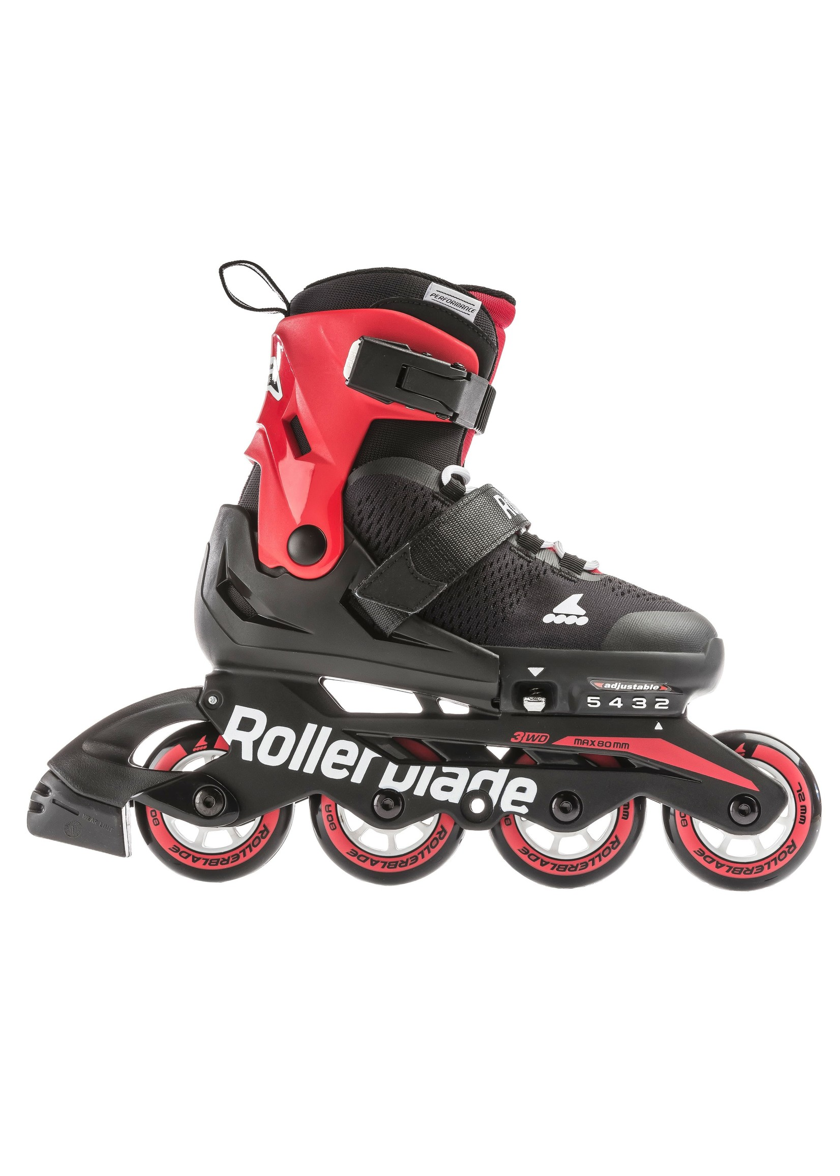 ROLLERBLADE ROLLERBLADE MICROBLADE JR BLACK AND RED