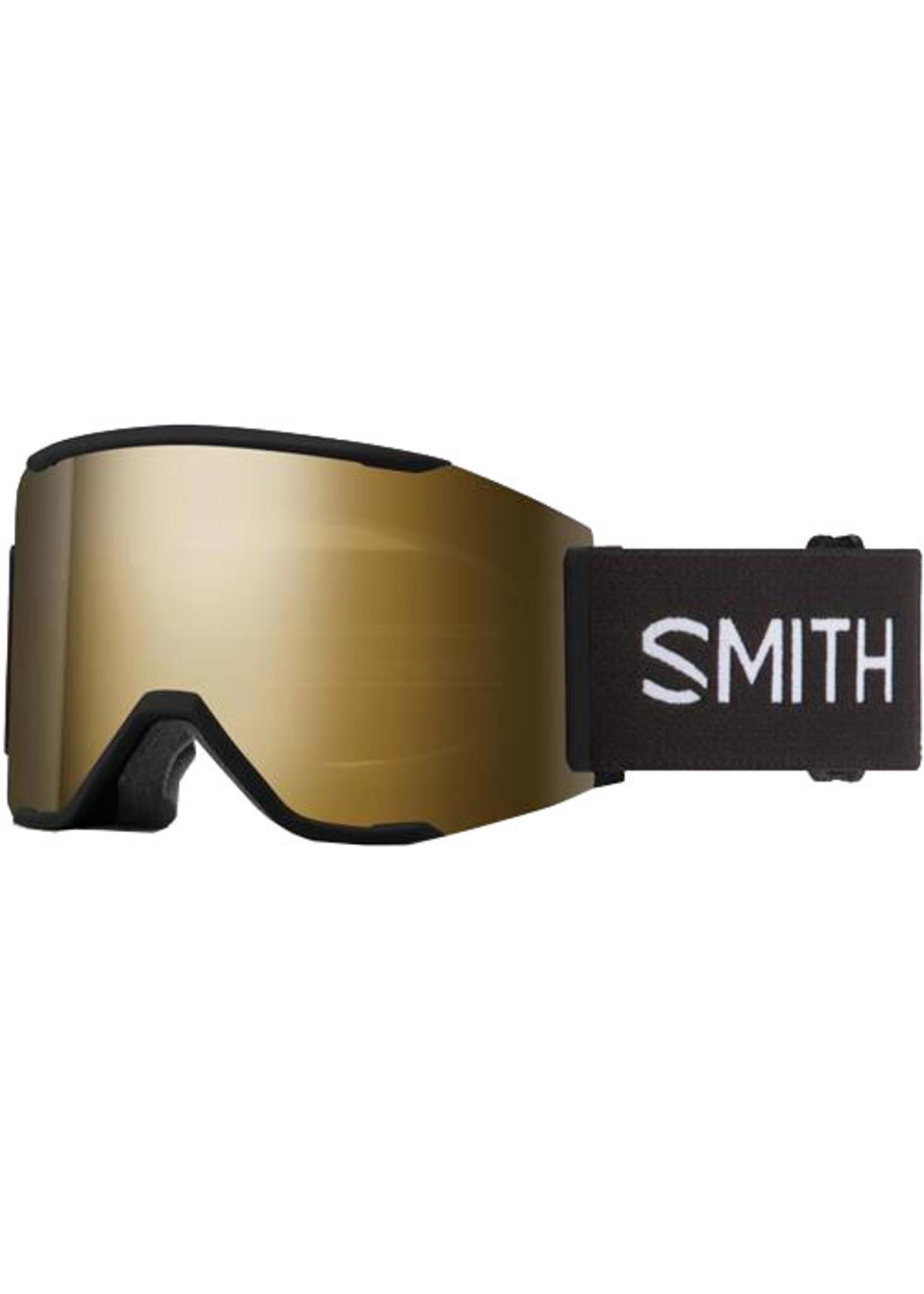 SMITH SQUAD MAG BLACK CHROMAPOP SUN BLACK GOLD MIRROR LUNETTE