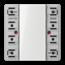 JUNG KNX universal push-button module, 1-gang-LS 5091 TSM-01