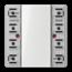 JUNG KNX universal push-button module, 2-gang-LS 5092 TSM-01