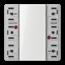 JUNG KNX universal push-button module, 3-gang-LS 5093 TSM-01