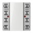 JUNG KNX universal push-button module, 4-gang-LS 5094 TSM-01