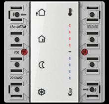 KNX room temperature controller module 2-gang-LS 5178 TSM-01