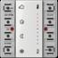 JUNG KNX room temperature controller module 2-gang-LS 5178 TSM-01