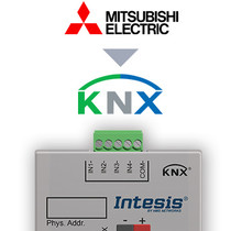 Mitsubishi Electric to KNX Interface with Binary Inputs