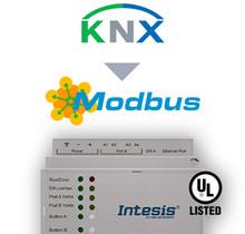 KNX TP to Modbus TCP & RTU Server Gateway  - 250 points