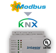 Modbus TCP & RTU Master to KNX TP Gateway - 600 points