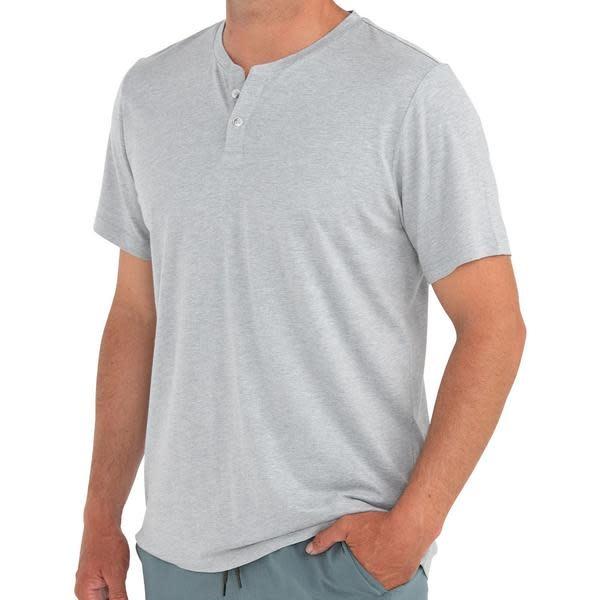 FreeFly Men's Heritage Short Sleeve Henley -