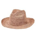 San Diego Hat Co. SDH WOMENS PINCHED CROWN FEDORA CROCHET  RAFFIA