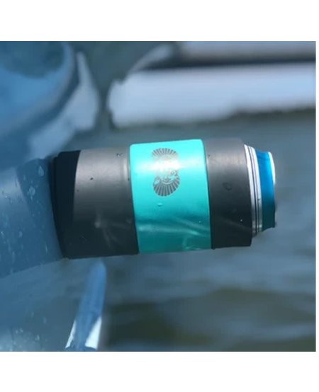 Toadfish Non-tipping Can Cooler + Adapter - Teal