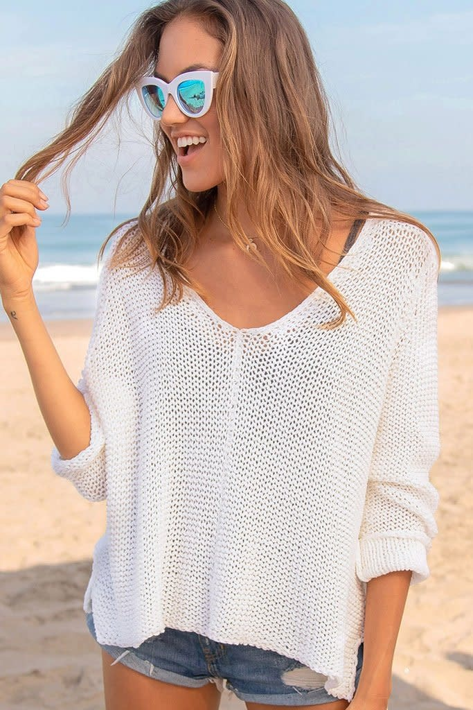 Wooden Ships MAUI V COTTON SWEATER -