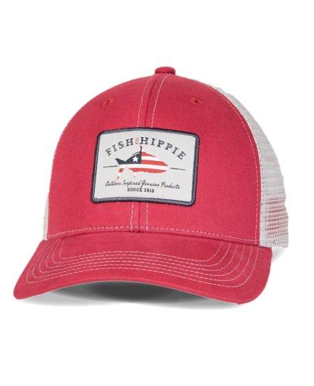 Fish Hippie Patriotic Trucker Hat