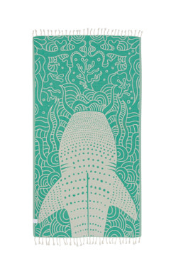 Sand Cloud Green Whale Shark Towel