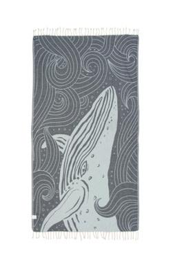 Sand Cloud Blue Swirl Waves Whale Towel