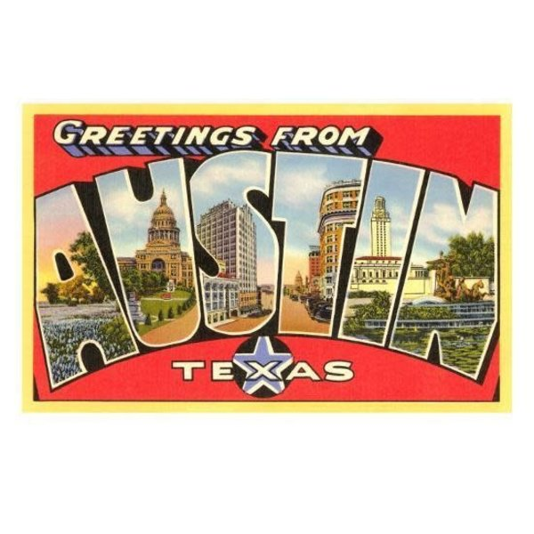 Austin & Texas Greetings from Austin, Texas Postcard