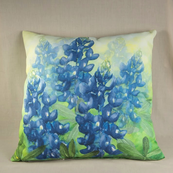 Austin & Texas Bluebonnet Pillow Sq In/Out