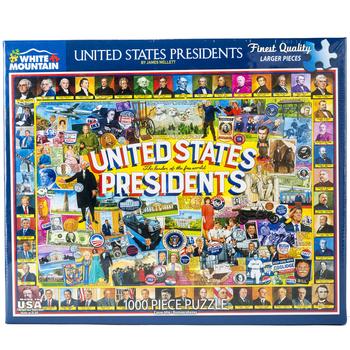 Sale Sale-US Presidents Puzzle with Landmarks - 1000pcs