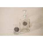 Americana Pewter Detail Presidential Seal Decanter
