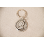 All the Way with LBJ Pewter LBJ Keychain