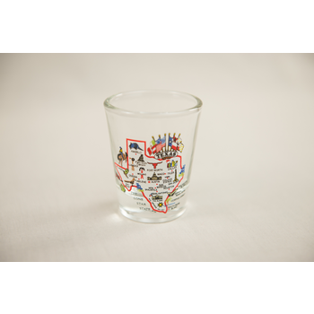 Austin & Texas Texas Map Shotglass
