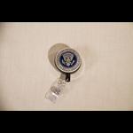 Americana Pewter Detail Presidential Seal Badge Reel