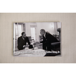 Civil Rights LBJ Meets w/ MLK Magnet